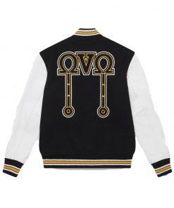 OVO Omega Men's Octobers Varsity Black Bomber Jacket