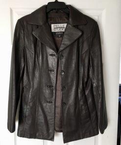 Pelle Studio Black Leather Jacket for Mens