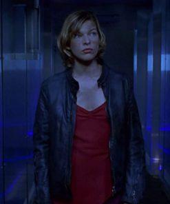 Milla Jovovich Alice Resident Evil Black Leather Jacket