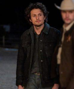 Michael Vlamis TV Series Roswell, New Mexico Season 3 Black Denim Shearling Jacket