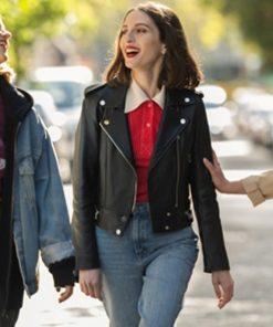 María Valverde Sounds Like Love 2021 Maca Biker Leather Jacket