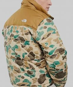 Ted Lasso S02 Richard Puffer Jacket North Face Camo Puffer Jacket