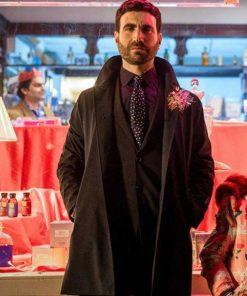 Brett Goldstein TV Series Ted Lasso Black Mid-Length Coat