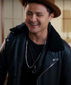 Dating & New York 2021 Black Arturo Castro Shearling Leather Jacket