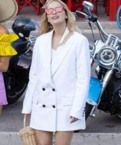 Camille Razat TV Series Emily In Paris Camille White Blazer