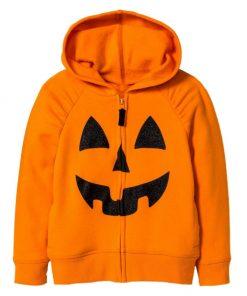 Unsiex Halloween Pumpkin Orange Pullover Hoodie