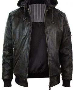 Mens-Brown-Bomber-Leather-Jacket