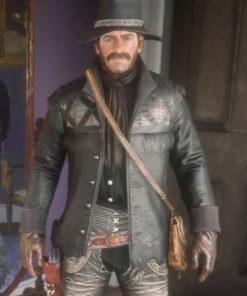 Red-Dead-Redemption-2-Nuevo-Paraiso-Gunslinger-Black-Hunting-Leather-Jacket