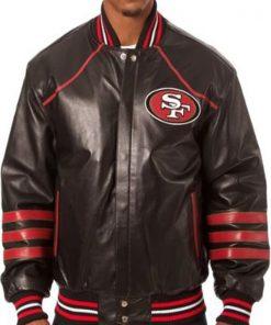 San-Francisco-49ers-Black-Leather-Jacket
